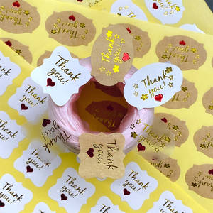 Package Label-Products Baking-Seal-Sticker Adhesive Kraft-Paper Thank-You Kawaii Tricolor