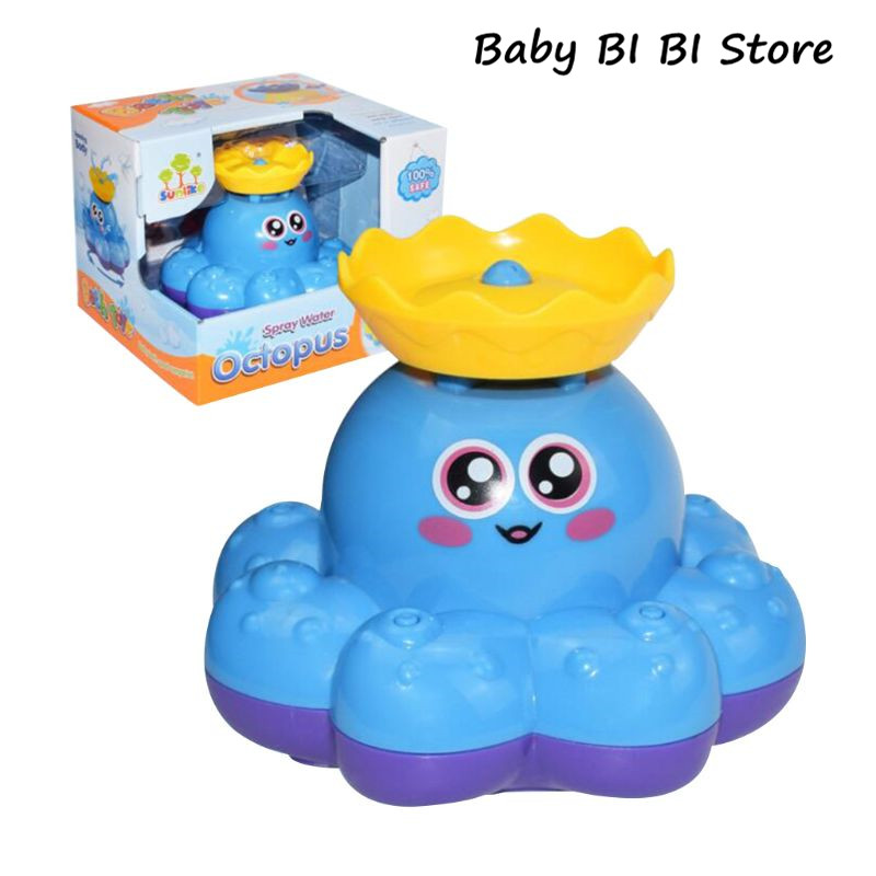 Bath Toy Spray Water Octopus Float Rotate Fountain Baby Bathtub Supplies Infant Kid Party Electronic Sprayer