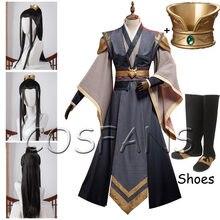 Anime Mo Dao Zu Shi Cosplay Nie Ming Jue kostium mężczyźni Mo Dao Zu Shi Cosplay Nie MingJue Anime Dao Mo do Shi peruki i buty