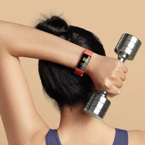 Image 5 - Xiaomi Redmi zespół inteligentny pulsometr Sport Monitor Bluetooth 5.0 wodoodporna bransoletka dotykowy duży kolorowy ekran nadgarstek