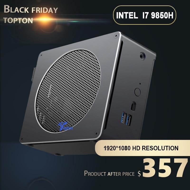 New Intel Mini PC I9 9880H I7 9850H I5 9300H 2*DDR4 64GB 2*M.2 PCIE+1*2.5''SATA Gaming Thin Computer Win10 Pro HDMI DP AC WiFi