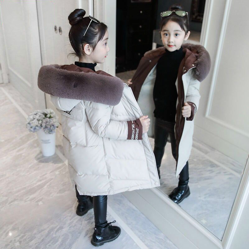 Детская зимняя хлопковая теплая куртка хлопковая стеганая одежда Зимняя Куртка парка для девочки, зимнее пальто