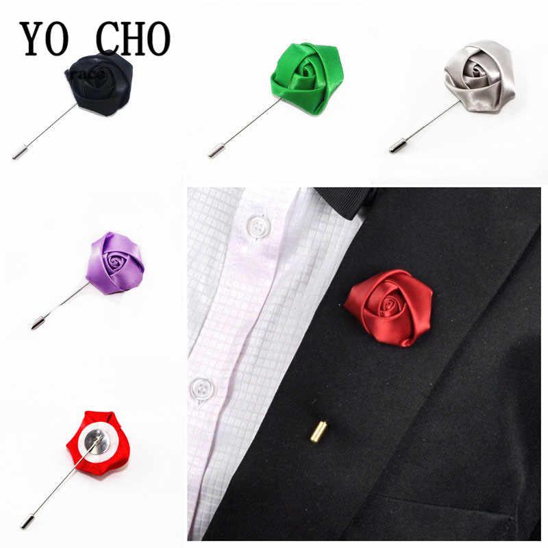 Yo Cho Pernikahan Boutonniere Pengantin Pria Sutra Rose Bros Kancing Terbaik Pria Pin Sesuai dengan Aksesoris Bunga Pernikahan Prom Perapi Dekorasi