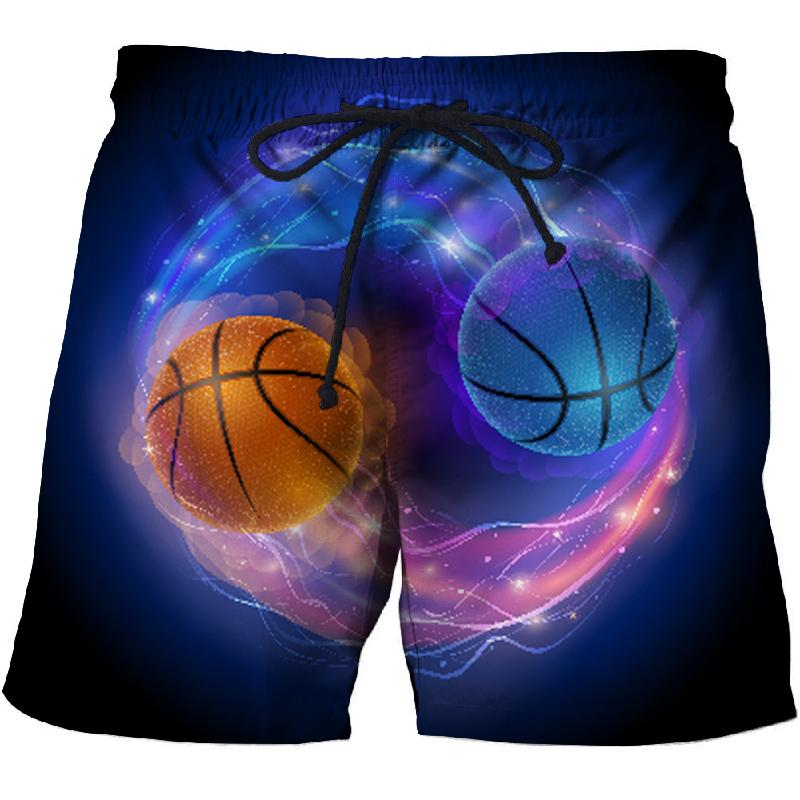2019 Two-color Ball 3D Printed Summer Surfing Beach Shorts  Men Travel Board Shorts Anime Shorts Quick Dry Vacation Streetwear
