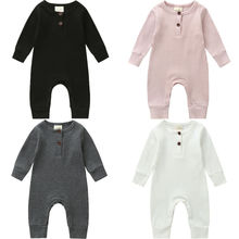 Newborn Toddler Baby Boy Girls Long Sleeve Romper Jumpsuit C