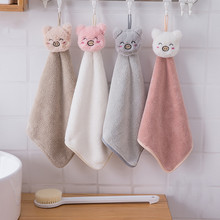 Soft Baby Towel Cartoon Animal Hand Towel Hanging Face Towel Cute Absorbent Bathing Towel For Bathroom Kitchen Quick Dry Towel