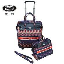 Дорожные сумки тележки из двух предметов для женщин чемодан