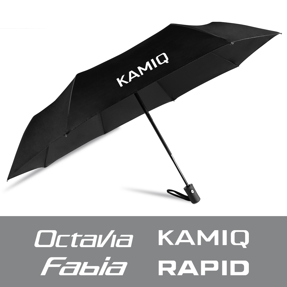 For Skoda Octavia 2 3 A5 A7 Fabia Rapid Kamiq Kodiaq Scala Karoq Superb Fully Automatic Compact Folding Umbrella Car Accessories