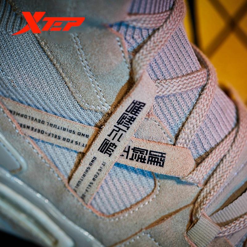 Xtep [Ali Boxing] Мужские Модные Повседневные кроссовки на шнуровке, серия Ali, прогулочная дышащая мужская обувь с высоким носком, мужская обувь 981219520859 - 3