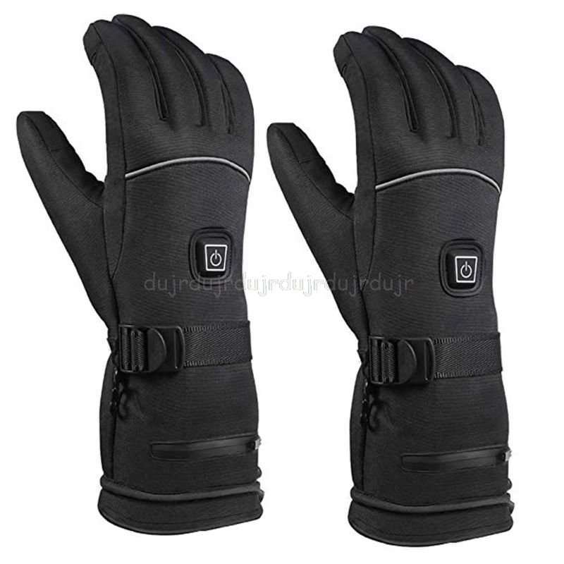 Men Women Winter Electric Heated Gloves With Reflective Strip Battery Powered High Quality And Brand New N28 19 Dropship