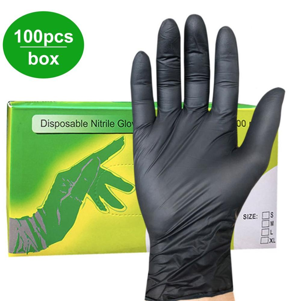 New 100Pcs/box Household Cleaning Washing Disposable Mechanic Gloves Nitrile Laboratory Nail Art Anti-Static Gloves