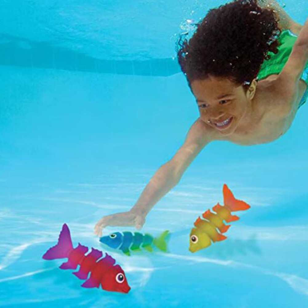 3pcs Water Toys Throwing Toys Swimming Pool Diving Games Summer Torpedo Robber Children Underwater Dive Toys For Children Kids