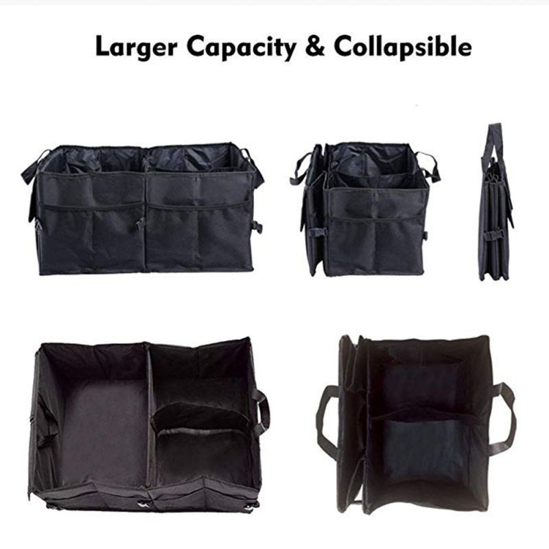 55x40x26.5cm Foldable Vehicle Storage Box Large Capacity Multi Pocket Folder Storage Device Auto Parts #2