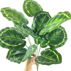 52cm 12heads Artificial Monstera Plants Tropical Fake Tree Leaves Large Palm Tree Leafs Plastic Plants Foliage Home Decoration