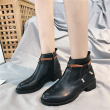 Shoes Lace Up Lady Boots Zipper Winter Women Luxury Designer Round Toe Chunky Heel Bootee Woman 2019 Low Heels booties Ladies(China)