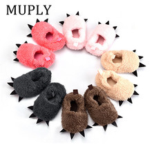 Cute Modeling Paw Infant Toddlers Baby Warm Slippers 2020 Winter Baby
