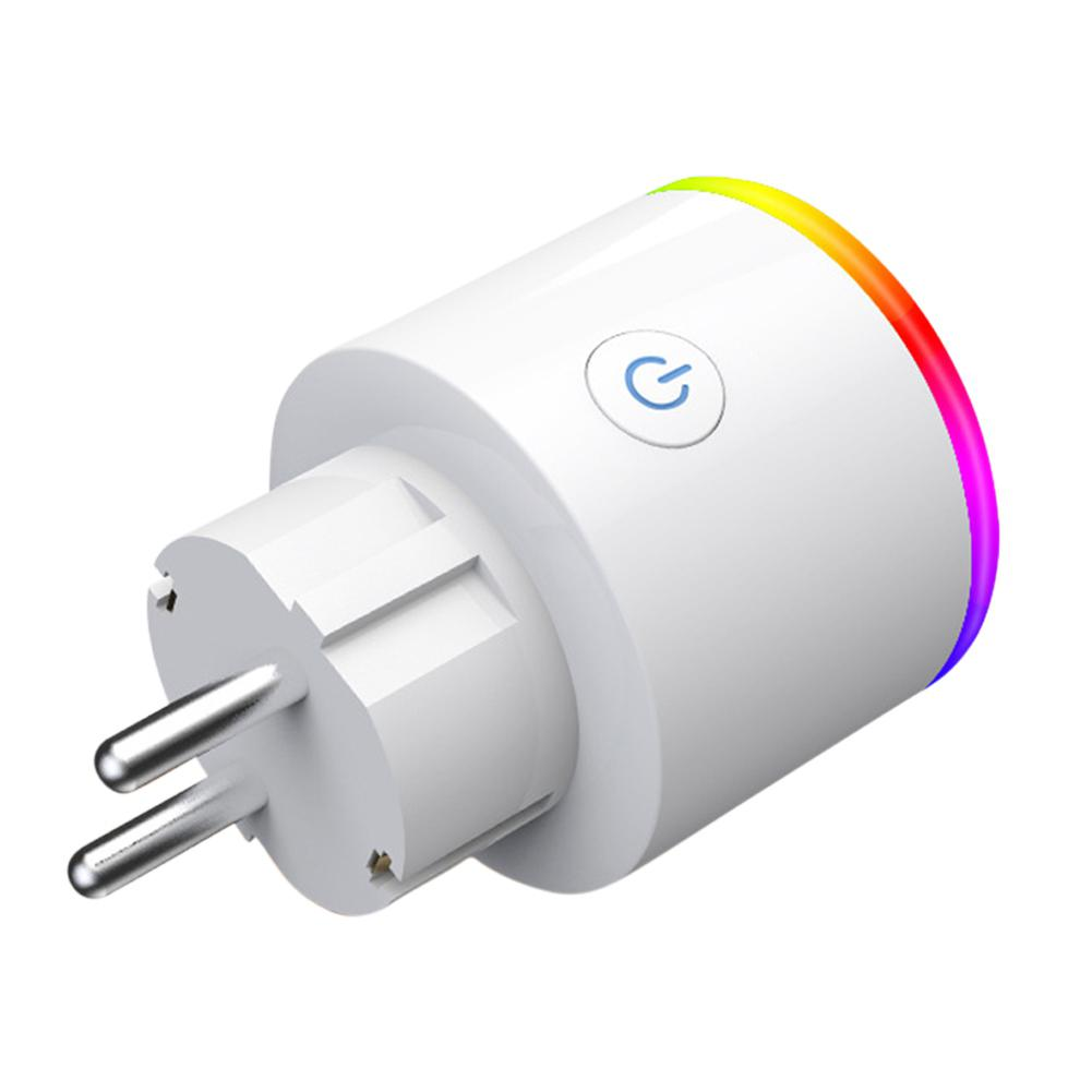 RGB EU Light Wifi Smart Plug Smart Socket Smart Life App Wireless Wifi Power Outlet Compatible Alexa Google Home Mini
