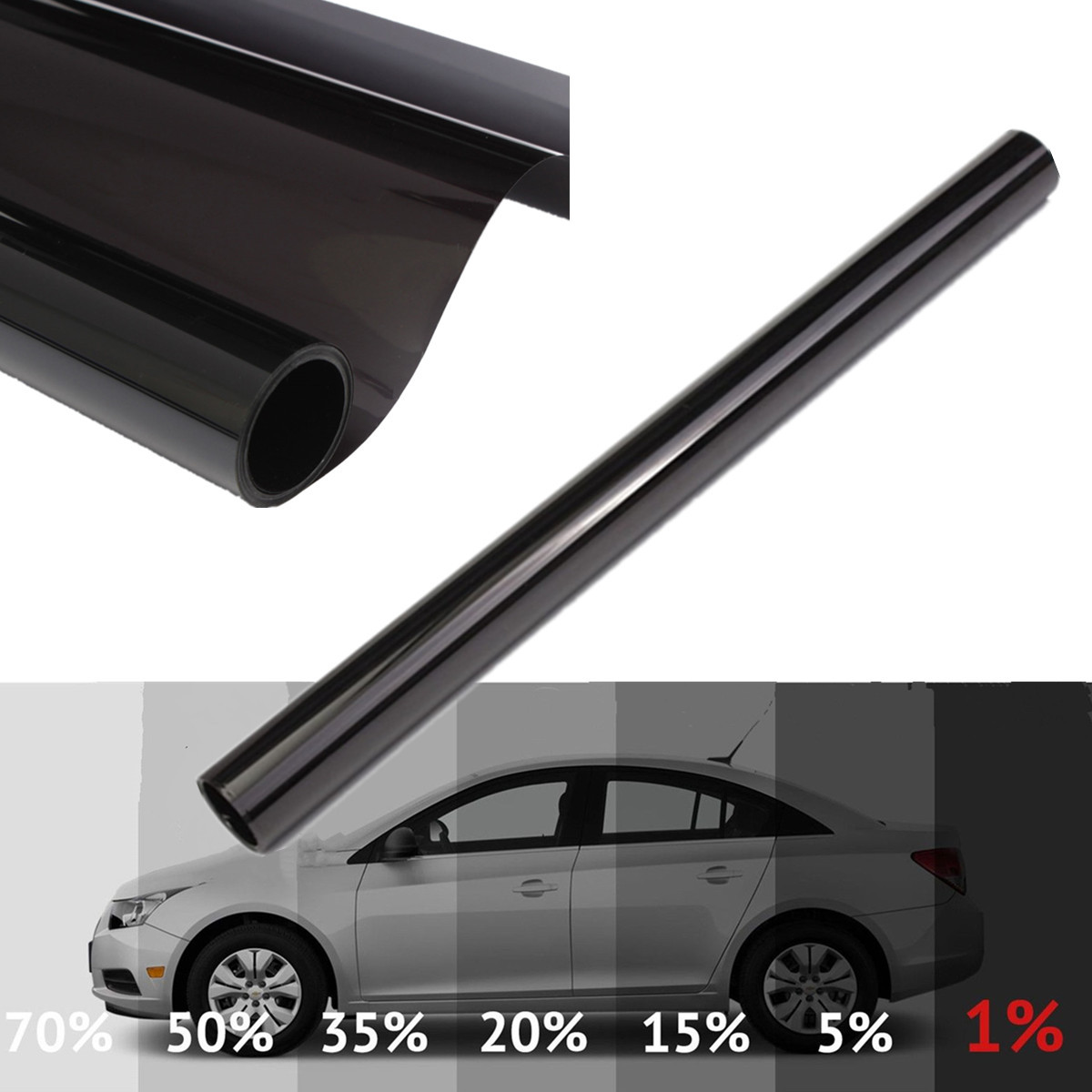 Uncut 6m Car Window Tint Tinting Film Roll 5% 15% 30% 50% VLT UV Insulation Auto Home Window Glass Solar UV Protector Stickers