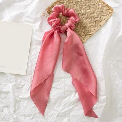 Модный летний шарф «конский хвост», эластичная лента для волос для женщин, бантики для волос, резинки для волос, резинки для волос с цветочным принтом, ленты для волос - Цвет: 0007