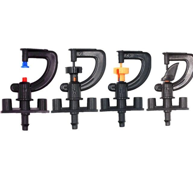 """50 Pcs Automatische Irrigatie Sproeier Met 1/4 """"Barb Tuin Micro Irrigatie Sprinkler Kas Roterende Verneveling Nozzle"""