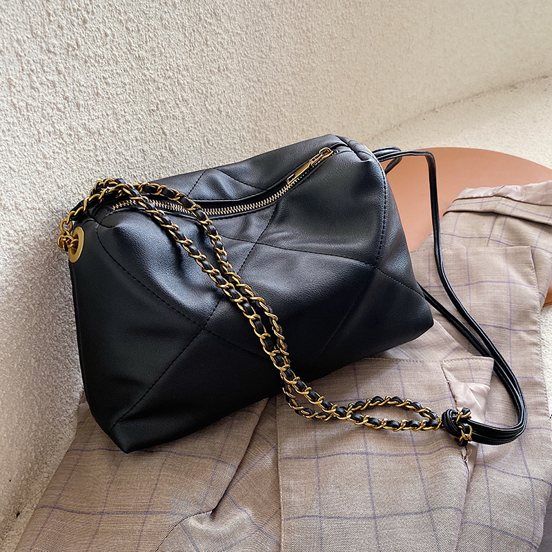 Solid Color Chain PU Leather Crossbody Bags For Women 2019 Small Lady Messenger Bag Female Lingge Handbags And Purses