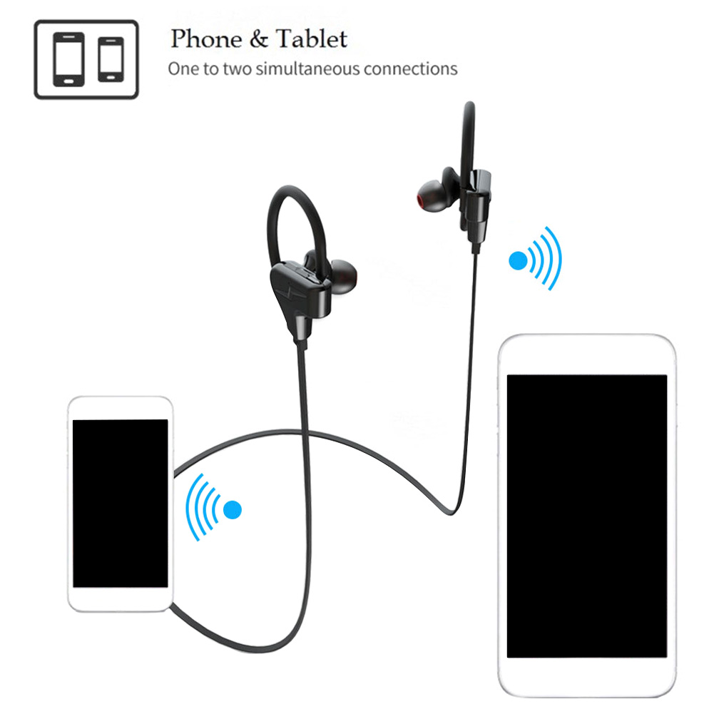 Portable C Shape Bluetooth Headset Sports Anti Falling Riding Stereo Professional Waterproof Ergonomic HIFI Music Accessories 2 in Bluetooth Earphones Headphones from Consumer Electronics