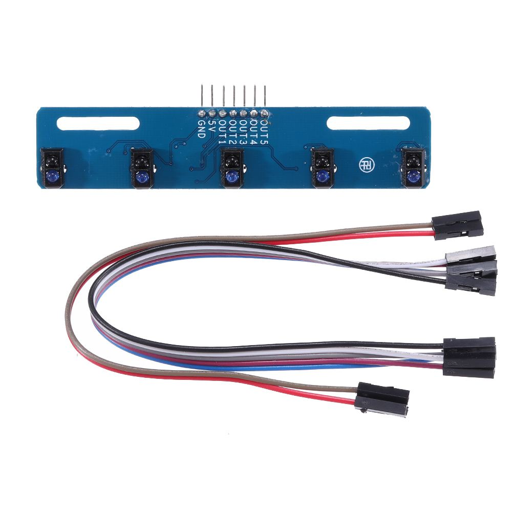 5 Channel Infrared Reflective Sensor TCRT5000 KIT 5 Way/road IR Photoelectric Switch Barrier Line Track Module