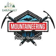 Earlfamily 13cm x 9cm para mountaineer pacífico noroeste adesivos de carro geladeira tronco decalque dos desenhos animados brisa vinil carro envoltório
