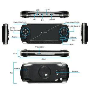 Image 3 - Новая игровая консоль 4,3 дюйма, встроенная 8 ГБ для MP4 видео/MP5/камеры/электронной книги, портативный ручной ретро плеер