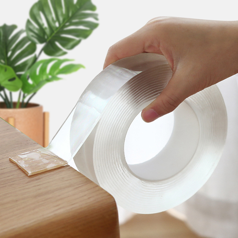 Transparent Washable Magic Nano Tape Reusable Double-Sided Tape Adhesive Nano-No Trace Paste Removable Glue Cleanable Household