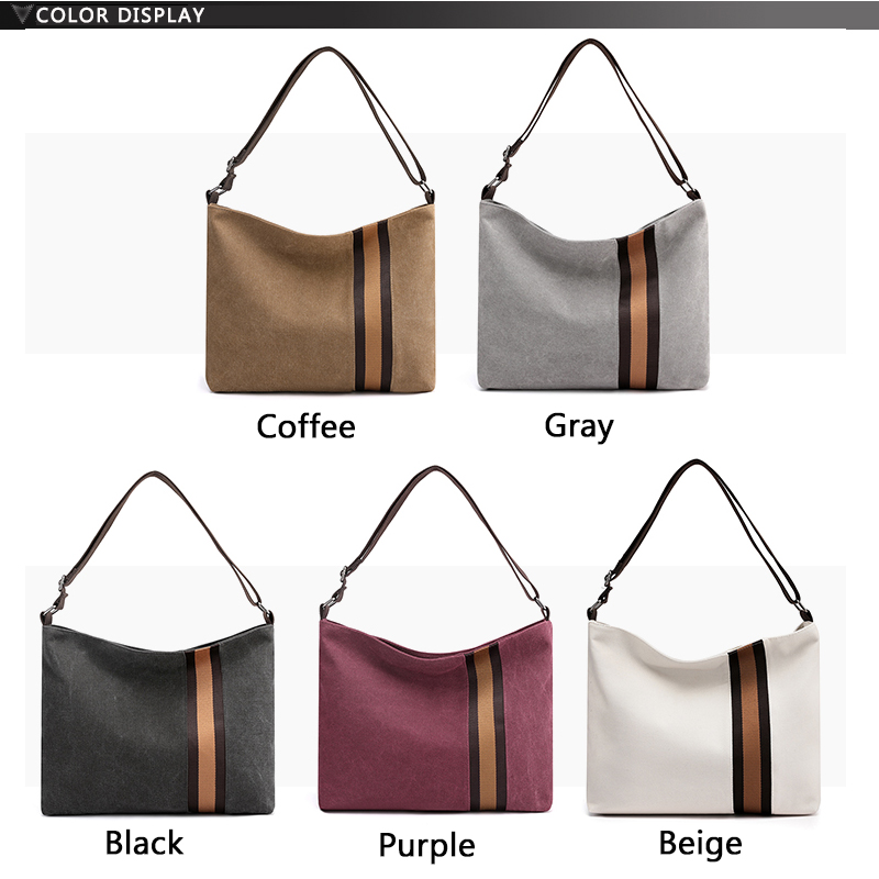 large capacity canvas shoulder bags Casual Women Crossbody Bag Unisex Casual Bags For Men And Women Luxury brand high quality