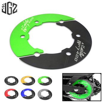 Motorcycle CNC Transmission Belt Pulley Rear Wheel Sprocket Chain Cover Guard For KAWASAKI NINJA 400 2017 2018 2019 Accessories