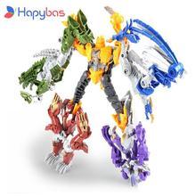 Инновационные фигурки героев, классические игрушки, Трансформеры, 5 шт., станьте большим роботом для детей, фигурки героев и игрушек, Новогод...
