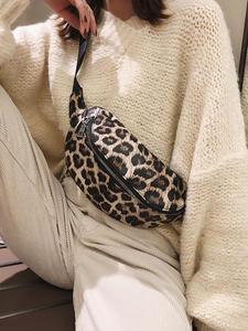 AIREEBAY Purse Waist-Fanny-Packs Leopard Belt-Bag Chest-Pouch Shoulder-Waist-Bag Women