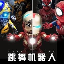 Disney Марвел «Железный человек», «Человек-паук», «Халк», Шмель или рюкзак с изображением трансформеров оптимуса прайма и Танцующий Робот детс...