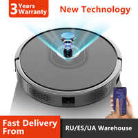 Robot Aspirador ABIR X6, Navegación por Cámara, App Wifi, Pantalla de Mapa, Actualización Remota, Pared Virtual Dibujada a Mano, Depósito de Agua Eléctrico