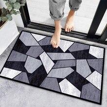Tapete geométrico da porta da entrada da sala de estar tapete antiderrapante absorvente tapete de banho tapete de cozinha tapetes de boas-vindas para a porta da frente