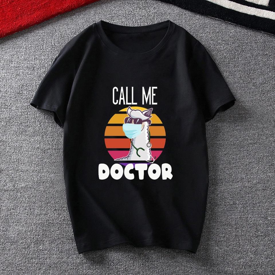 Женская забавная Футболка с принтом «call me doctor» женская
