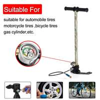 Paintball Scuba HPA Tank High Pressure Pump with Filter 4500PSI Three PCP Pump Air Filling Car Bicycle Stainless Steel