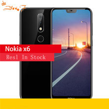 Nokia X6 2018 64G ROM 4G RAM 3060mAh 16,0 MP 3 Kamera Dual Sim Android LTE Fingerprint 5,8 zoll Octa Core Smart Handy