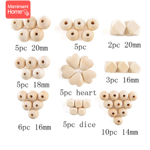 Image 3 - 45pc Wooden Beads Baby Teether Making Pacifier Chain Wooden Rodent DIY Crafts Newborn Teething DIY Accessories Wooden Teether
