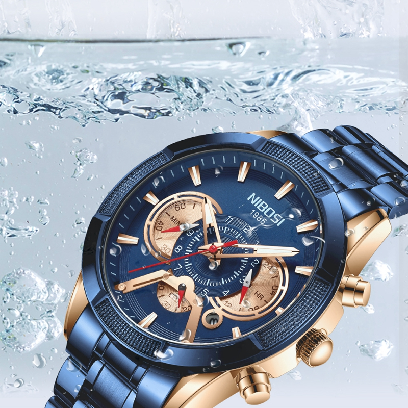 NIBOSI 2020 New Arrival Men Watch Top Luxury Brand Sport Watches Mens Chronograph Quartz Wristwatch Date Male Relogio Masculino 4