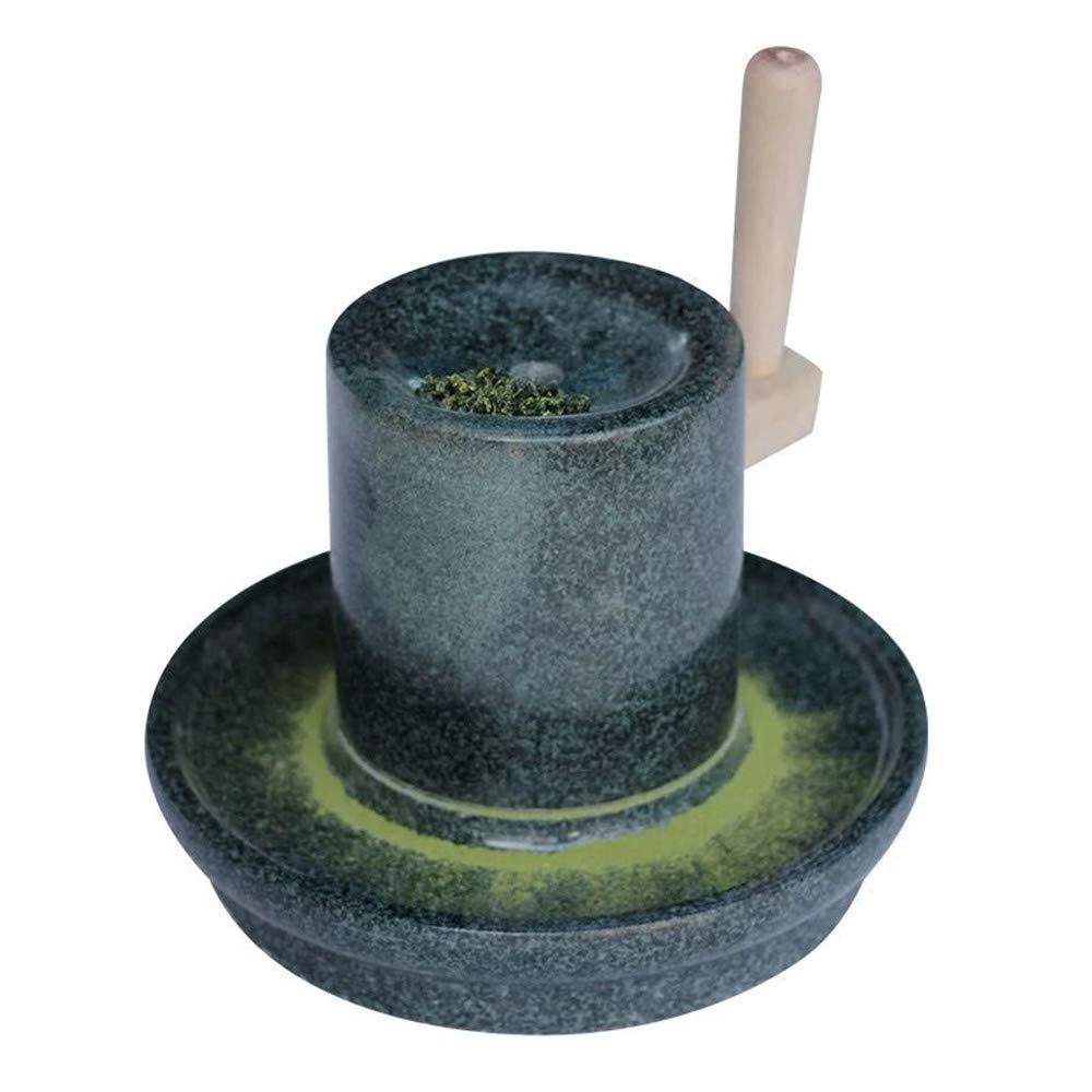 Natürliche Glatte Blaustein Manuelle Hand Kurbel Tee Schleifer Gewidmet Tee Mühle