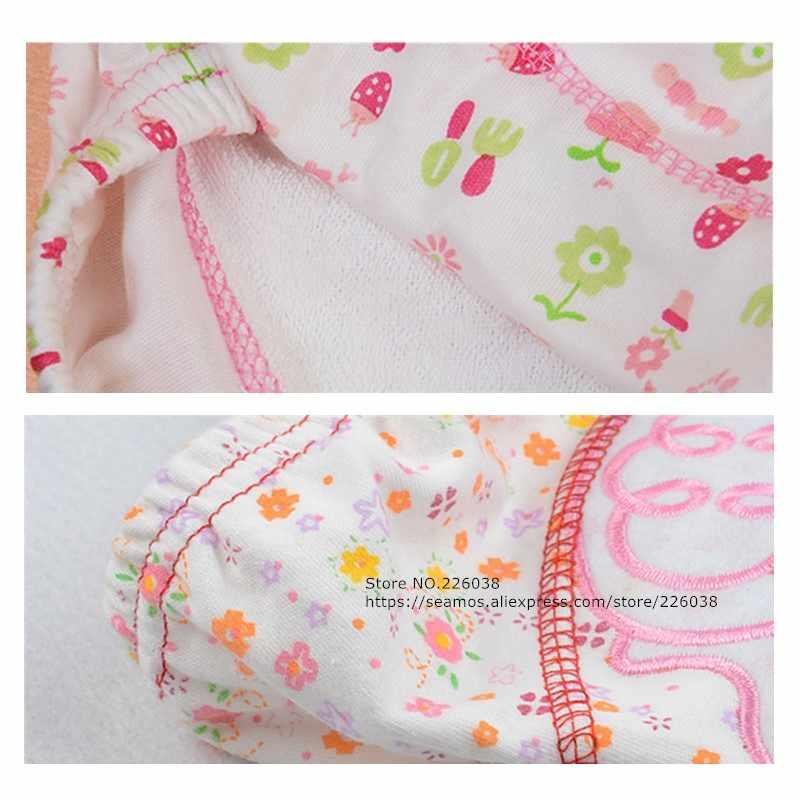 2 قطعة مجموعة الطفل سروال التدريب حفاضات الطفل قابلة لإعادة الاستخدام الحفاض قابل للغسل حفاضات القطن التعلم السراويل الاطفال ارتداء QD05
