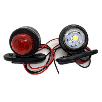 4PCS 12v-24v Universal Truck Trailer Tail Light Side Marker Indicators Light Lamp Small Lights Edge Lights Signal Lights