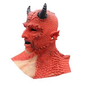 Image 4 - Demon Horror Lord Diablo Belial Mask Cosplay Boss Belial Latex Masks Gloves Halloween Carnival Party Costume Props