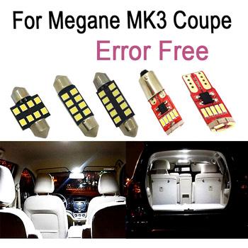 12pc x wolne od błędów żarówka LED samochodowa wnętrze czytanie oświetlenie drzwi bagażnika zestaw dla Renault dla Megane III 3 MK3 Coupe ( 2009-2016) tanie i dobre opinie CN (pochodzenie) Lampki do czytania 80-150Lm bulb T10 (W5W 194) 12 v WHITE 0 08kg 1 2-2 5W bulb Interior Lighting 12 months