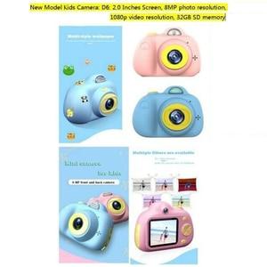 """Image 5 - Cámara Digital para niños, pantalla LCD de 2 """"1080P, Selfie gratis, tarjeta SD de 16GB, regalo de cumpleaños, 100% nueva y de alta calidad"""