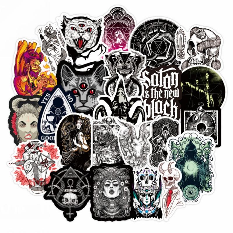 50Pcs Devil Beauty Graffiti Stickers for Skateboard Suitcase Laptop Guitar CBC
