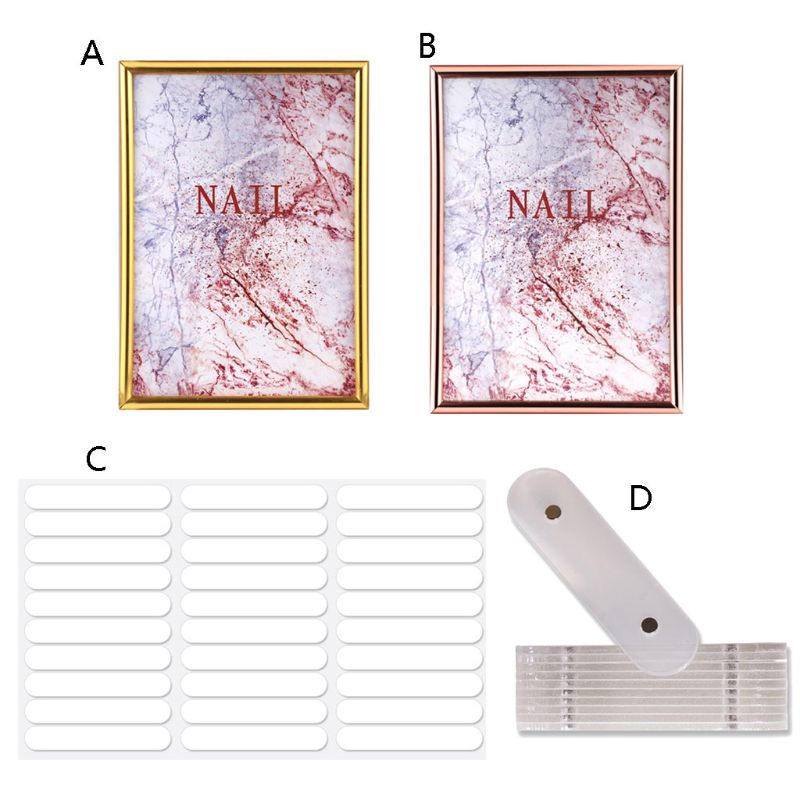 Nail Art Jewelry Showing Holder Magnetic Marble Detachable Card Display Board